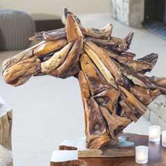 Artisan Driftwood Horse