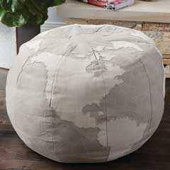 Canvas Globe Ottoman