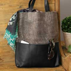 Slate Leather Tote