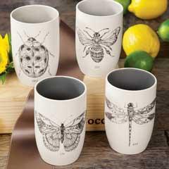Fluttering Stoneware Glasses