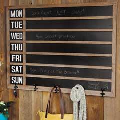 Lancaster Blackboard & Coat Rack