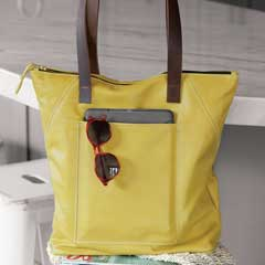 Limone Zippered Tote