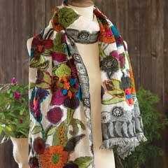 Alessandra Embroidered Scarf