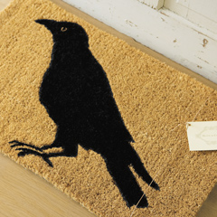 Raven Woodland Door Mat