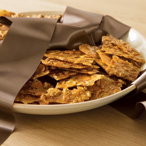 Gourmet Sesame & Pumpkin Seed Brittles With Platter