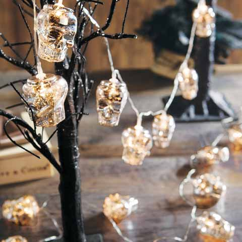 Silvered Skull Lights