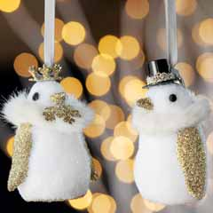 Madame Et Monsieur Penguin Ornaments