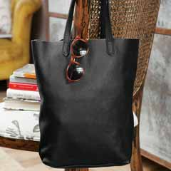 Onyx Leather Tote