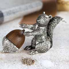 Woodland Pewter Salt & Pepper Set
