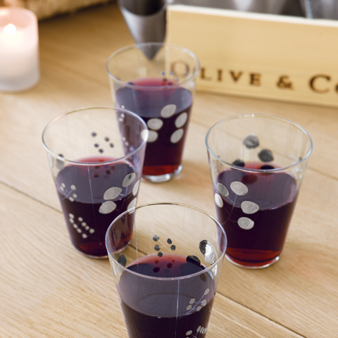 Silver Currant Red Wine Glasses