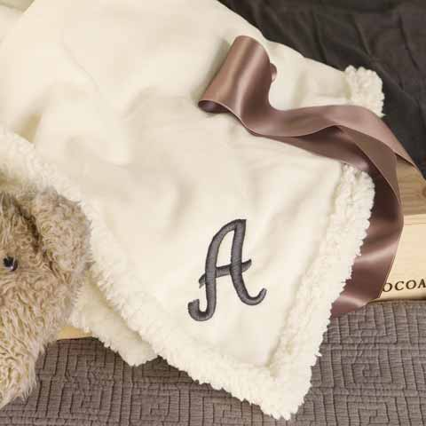 Monogrammed Baby Blanket, All Gifts