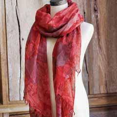 Cayenne Blossom Wool Scarf