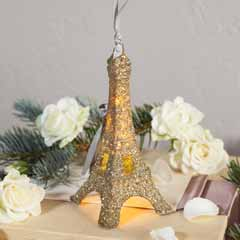 Illuminated Eiffel Ornament