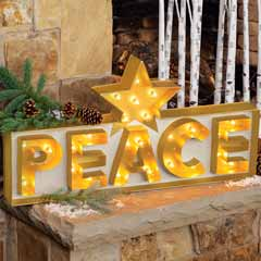 Peace Lit Sign