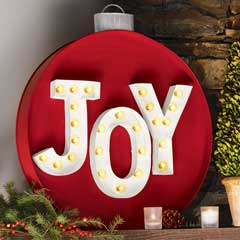 Joyful Ornament Lit Sign