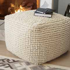 Wool Ottoman