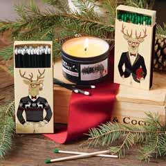 Dapper Deer Candle Set
