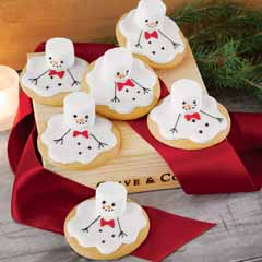 Sunny Side Up Snowman Cookies