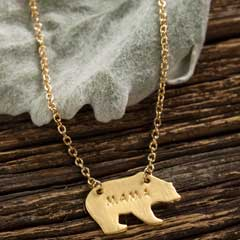 Mama Bear Gold Necklace