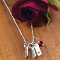 Dog Tag & Charm Necklace