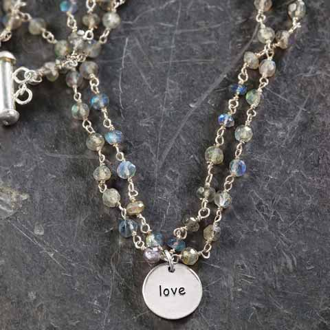 Love Disc Necklace