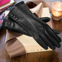 Onyx Leather Dress Gloves