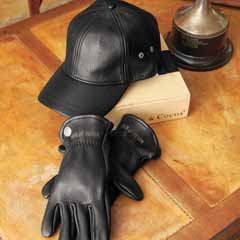 Leather Cap & Gloves