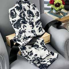 Silk Fleur Pajamas