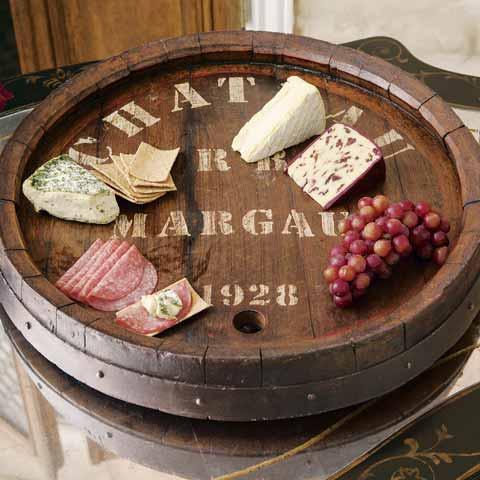 French Wine Barrel Lazy Susan