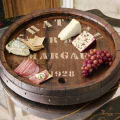 French Wine Barrel Lazy Susan