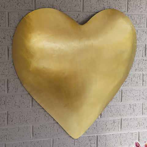 Iron Heart Wall Art, All Gifts: Olive & Cocoa