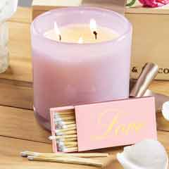 Peony Patch Candle & Matches Set