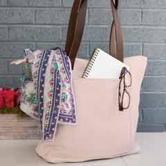 Blushed Leather Tote
