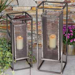 Chatham Square Metal Lantern Duo