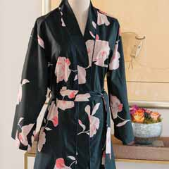 Midnight Bloom Robe