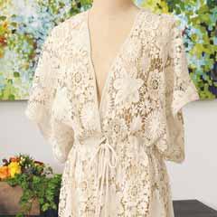 Wildflower Creme Lace Kimono