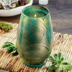 Gilded Petal Candle