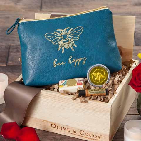 """Bee Happy"" Beauty Bag"