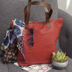 Paprika Leather Tote