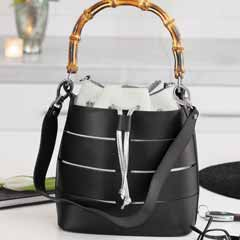Imola Leather Bucket Tote