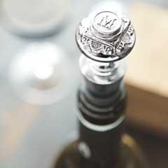 Monogrammed Wine Stopper
