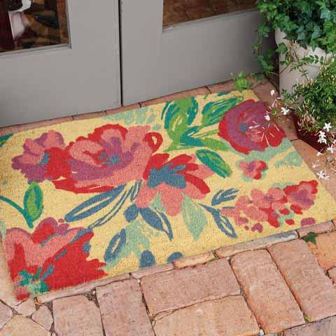 Vibrant Blossom Entry Mat