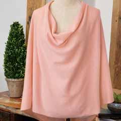 Petal Pink Cashmere Poncho