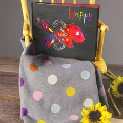 Happy Dots Blankie & Picture Book