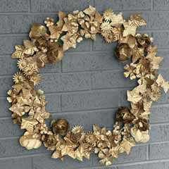 Gilded Botanical Wreath