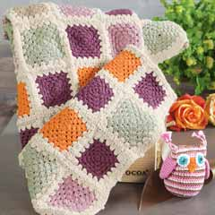 Granny Square Blankie & Rattle
