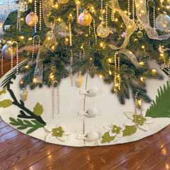 Ivory Wool Tree Skirt