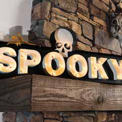 Spooky Lit Sign