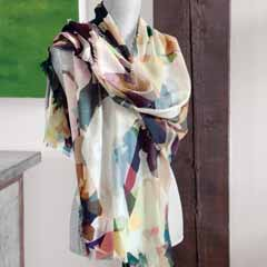 Artfully Abstract Wool Scarf