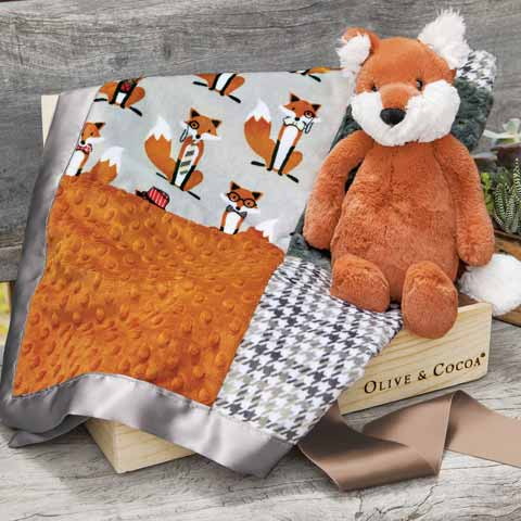Snuggly Fox & Blankie